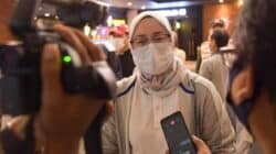 Bupati Purwakarta, Anne Ratna Mustika memberikan keterangan pers soal pencatutan namanya oleh oknum yang tidak bertanggungjawab di medsos