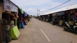 Suasana sepi Pasar Ciranjang, Cianjur