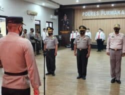 Personel Satreskrim Polres Purwakarta Dapat Penghargaan Penegakan Hukum Tipikor