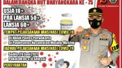 Menyambut HUT Bhayangkara, Polres Purwakarta Bakal Gelar Vaksinasi Masal