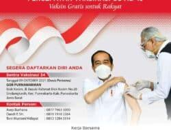 Rakyat Sehat Ekonomi Bangkit, DPP Projo Gelar Vaksinasi Serentak Tahap Awal se-Jawa Barat